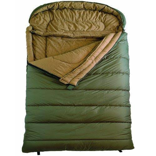 "Teton Sports Mammoth Flannel Lined Sleeping Bag, Olive Green, Queen, 94"" x 62"""