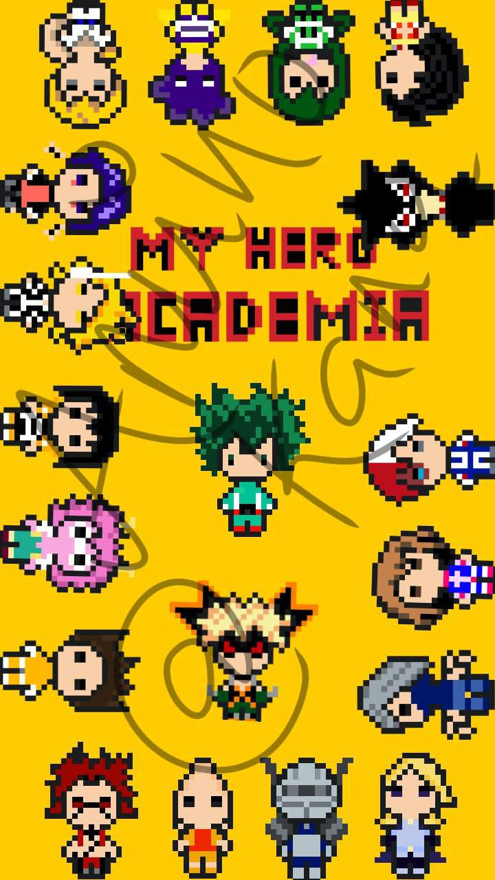 My Hero Academia Wallpaper Pixel Art Anime Amino