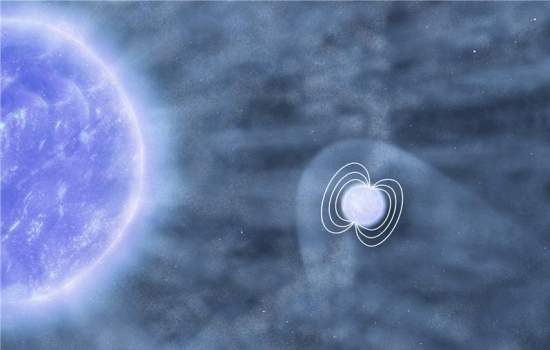 Estrela de nêutrons engole aglomerado de matéria