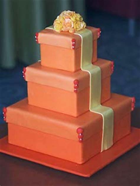 Amazing Orange Wedding Cakes