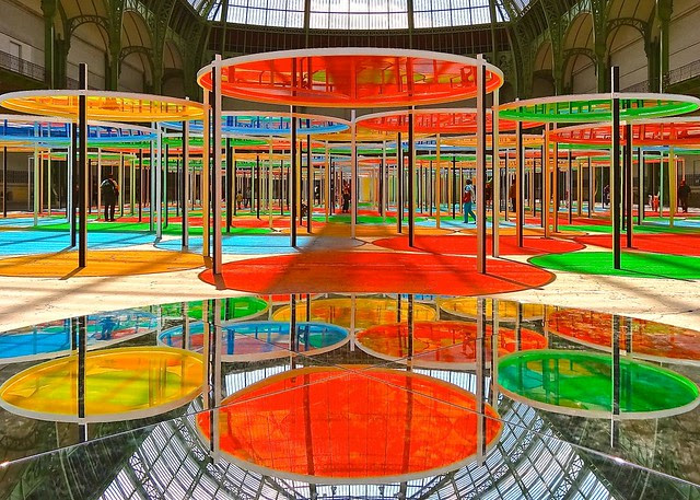 Monumenta 2012 Daniel Buren, the Grand Palais, Paris, France