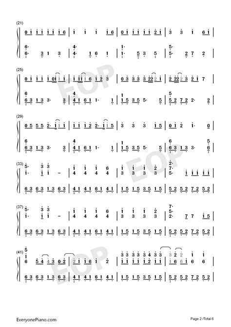 Wedding Dress Taeyang Numbered Musical Notation Preview 2