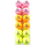 Hyper Pet Mini Tennis Balls for Dogs, Pink, Orange and Green, 4 of Each Color