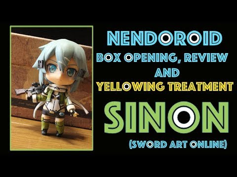 Nendoroid Box Opening, Review and Yellowing treatment: Sinon (Sword Art Online)