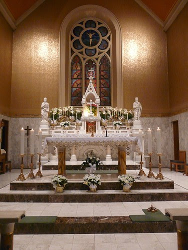 Easter Altar with Stained Glass