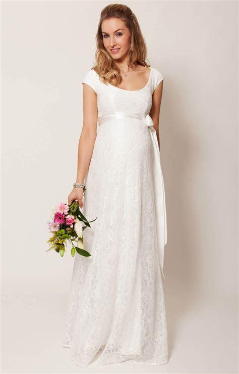 Eliza Maternity Wedding Gown Long (Ivory)   Maternity