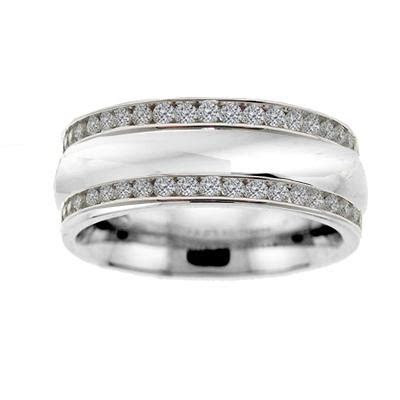Diamond Double Row Wide Wedding Band ? Brooks Diamonds