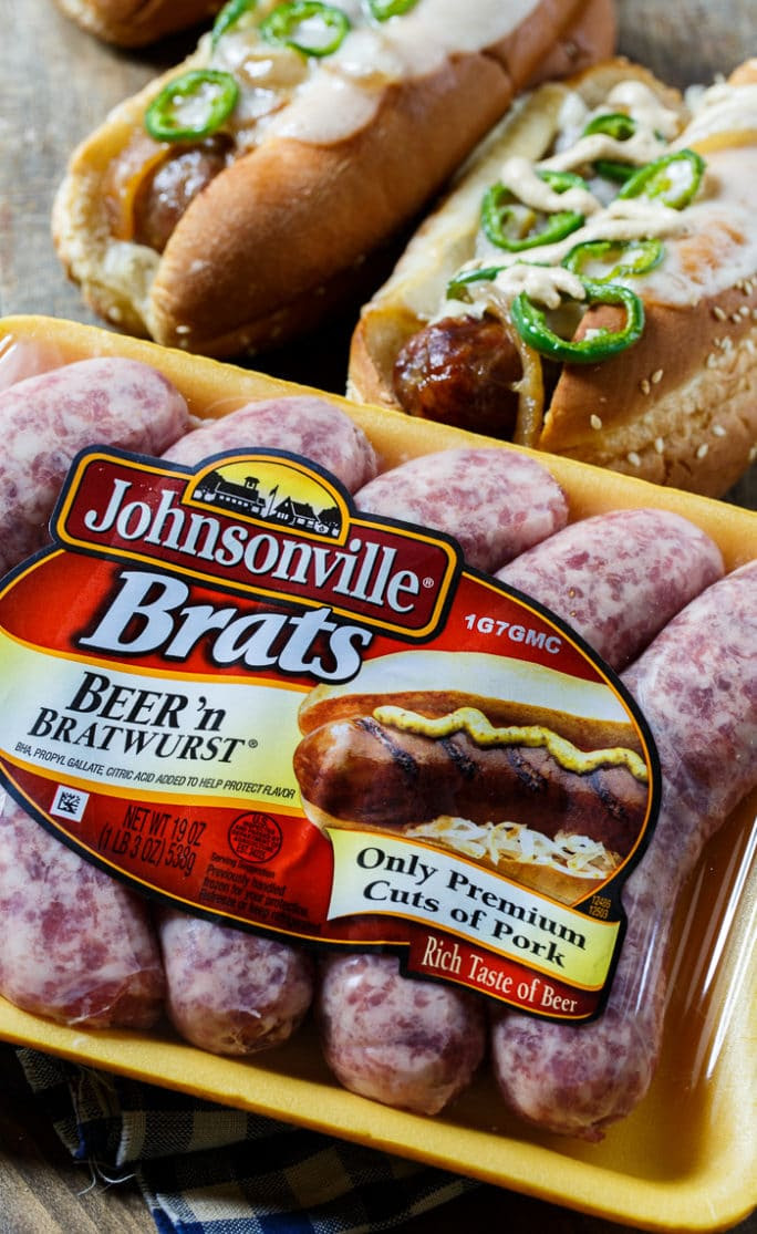 Jalapeno Beer Brats - Spicy Southern Kitchen