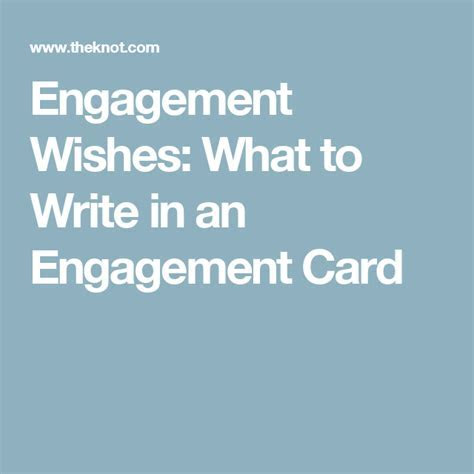 Engagement Wishes: What to Write in an Engagement Card