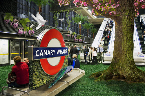 Canary Wharf in Bloom image by Transport for London