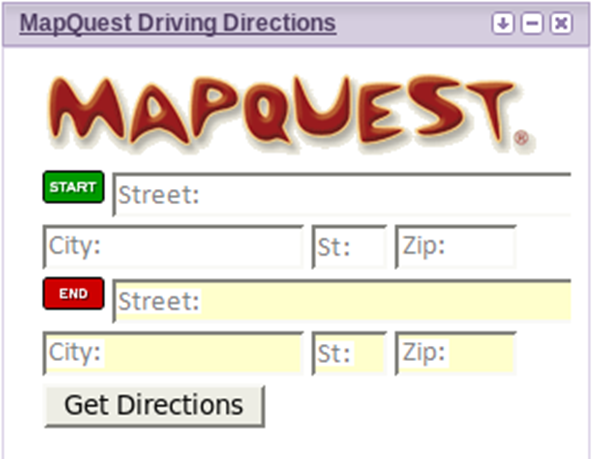 Mapquest Classic Driving Directions