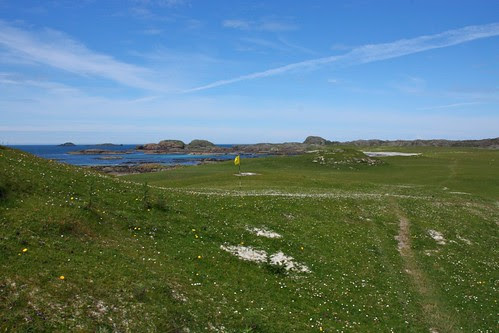 Golf Course green on Iona