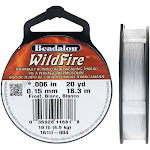 Wildfire Thermal Bonded Beading Thread, .006 Inch Thick, 20 Yard Spool, Frost / White