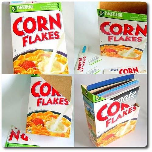 Revistero elaborado con una caja de cereal