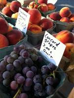 Grapes & peaches