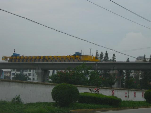 High speed train tracks near Xipu, 2009