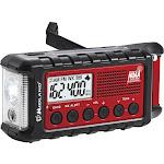 Midland - E+READY Emergency Crank Weather Alert Radio - Black / Red