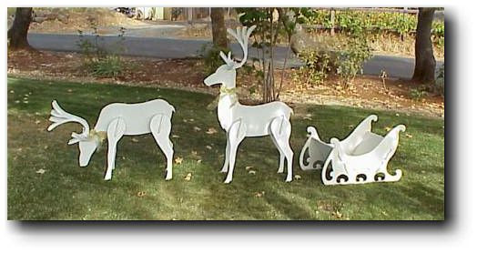 Christmas Reindeer Sleigh Woodworking Plans
