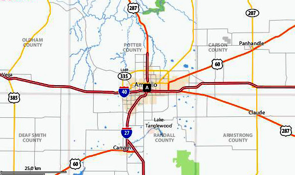 Map Of Amarillo Texas | Business Ideas 2013