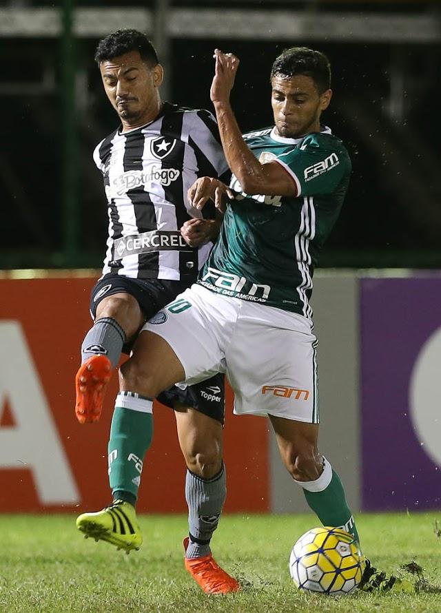 Palmeiras perde Prass e se perde diante do Botafogo
