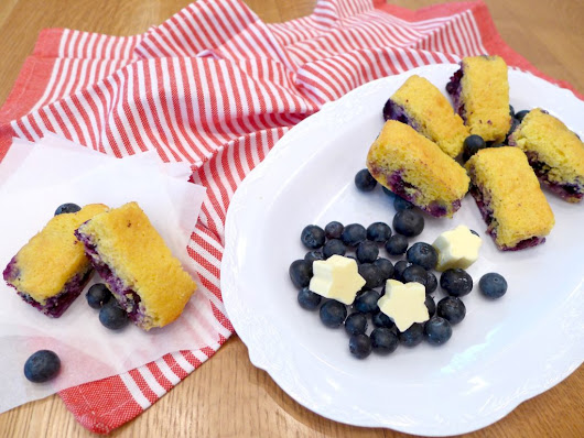 Jiffy Blueberry Cornbread * Dig In With Dana