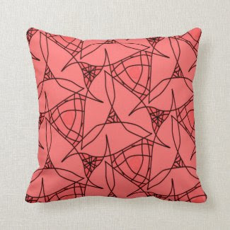 Throw Pillow with Pink and Red Overtones