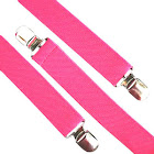 Private Island Hot Pink Suspenders Elastic Clip on 1283
