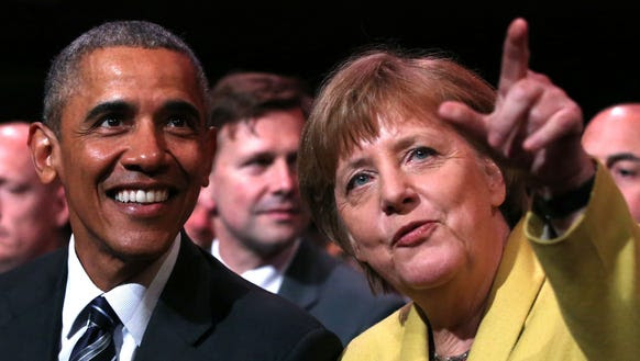 President Obama and German Chancellor Angela Merkel