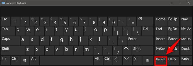 On-Screen Keyboard Options