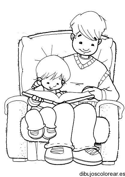 Dibujo De Una Padre Y Su Hijo