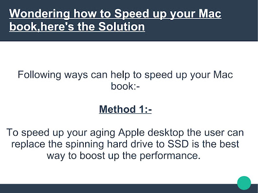 Wondering how to Speed up your Mac book,here's the Solution
