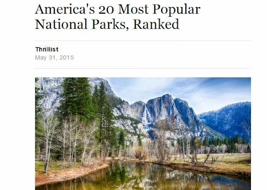 Yahoo and Thrillist Rank Zion the #4 Best National Park in the US | Zion Canyon