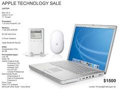 "Apple Technology Sale   17"" PowerBook G4,..."