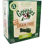 Greenies Dental Chews For Dogs Grain Free Teenie 96 Chews