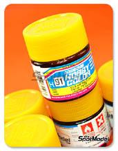 Pintura acrílica Mr Hobby - Amarillo translucido - Aqueous Hobby Color - Clear Yellow - 10ml