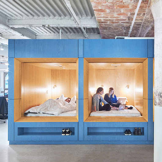Float Studio creates sleeping spaces at bedding company's Manhattan offices