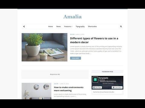 Template Amalia - Modelo de Blogger responsivo de beleza