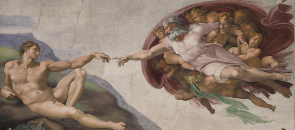 La Creación de Adán (1511), Miguel Ángel (Wikimedia Commons)