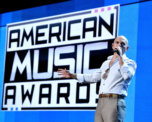 Pitbull Brings Worldwide Swag To AMAs Rehearsals