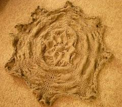 Hemlock Ring Lap Blanket, unblocked