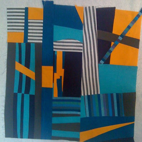 Gee's Bend-inspired block ~ for Nicole (Bee Happy)