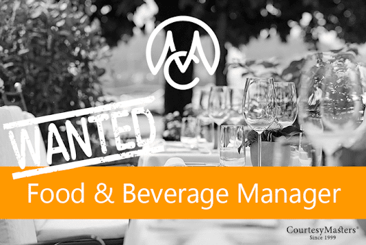 Job Food & Beverage Manager Walibi • CourtesyMasters