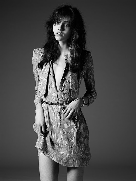 Grace Hartzel by Hedi Slimane for Saint Laurent Pre-Fall 2014 Lookbook | The Fashionography