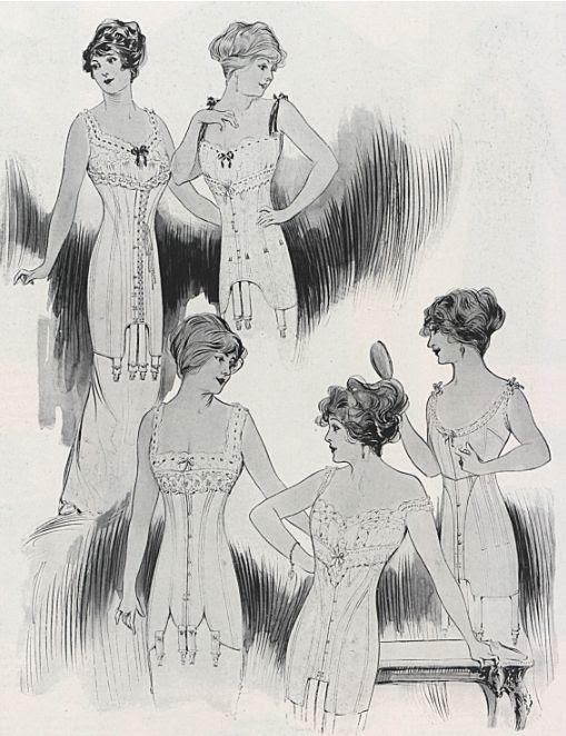 1912 corsets. | via Demode Couture.