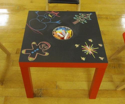 DIY IKEA Chalkboard Table For Kids | Shelterness