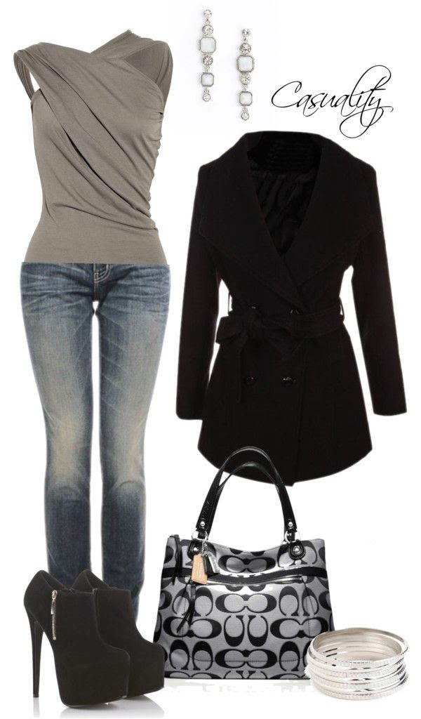 """Untitled #30"" by casuality on Polyvore - (not so sure I could walk in those shoes though)"