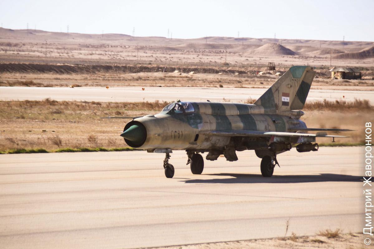 MiG-21 da Força Aérea da Síria partindo para mais uma missão