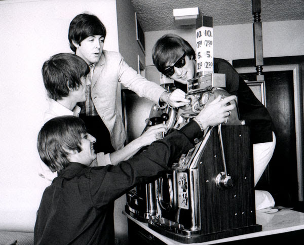Beatles Play a Slot Machine