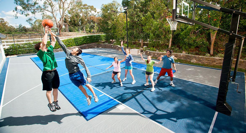 Home Basketball Court Backyard Putting Greens Home Tennis Court