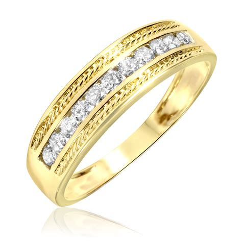 mens wedding rings gold  diamonds wedding
